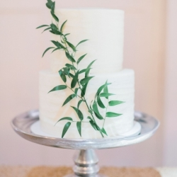Pleated buttercream cake
