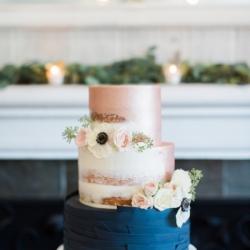 Semi Naked & Fondant wedding cake