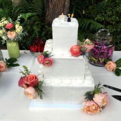 Fondant Lego Themed Wedding Cake
