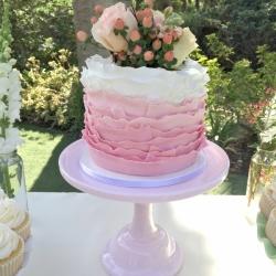 Fondant ombre ruffle cake