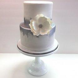 White Silver Wedding Cake.jpg