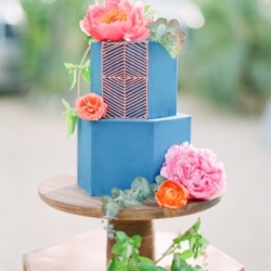 Hexagon Wedding Cake