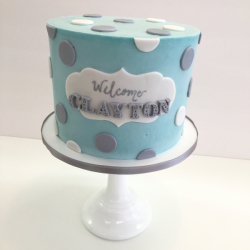 Buttercream baby shower cake