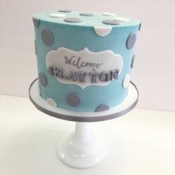 Buttercream baby shower cake