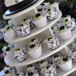Black and White Wedding Tower