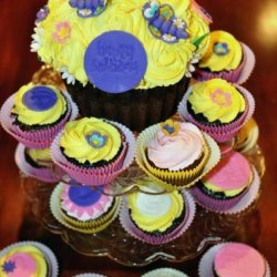 Giant cupcake. Perfect for birthdays! Please contact us for details and pricing.