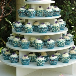 Peacock Theme Wedding Cupcake Tower