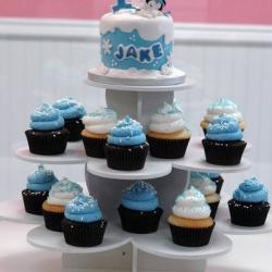 1st birthday cupcake tower
