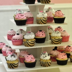 Pink Baby Shower Tower