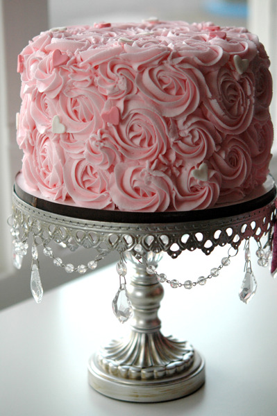 "8"" buttercream rose cake - as pictured $125.00"