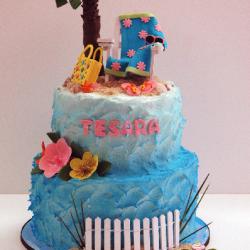 2 tier beach cake