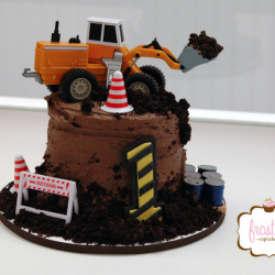 Buttercream Construction Cake
