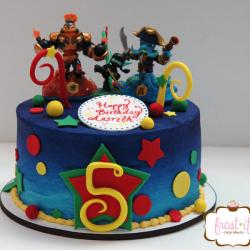 Ombre Skylander cake