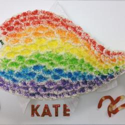 Rainbow fish cake