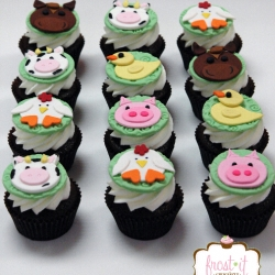 Hand Made Fondant Cupcake Toppers