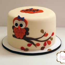 Fall theme baby shower cake