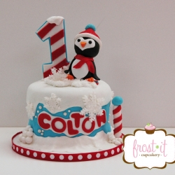 Winter Theme Smash Cake