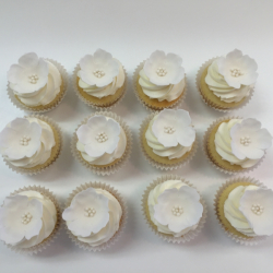 Sugar flower cupcake toppers
