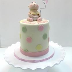 Smash cake with fondant baby