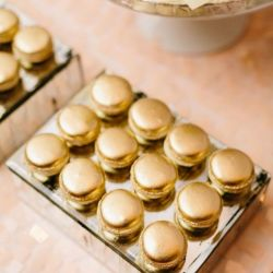 Gold French Macarons