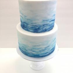 Fondant watercolor cake