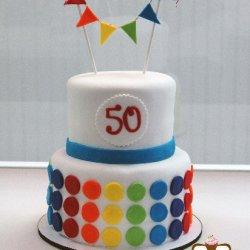 Rainbow Colored Cake