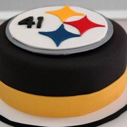 Custom Steeler NFL Cake