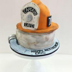 Fire Dept. Retirement Custom Carved Cake