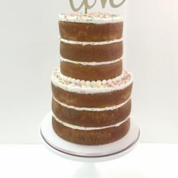 Bridal shower naked cake