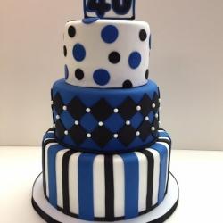 Black and Blue Cake