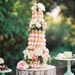 french macaron tower